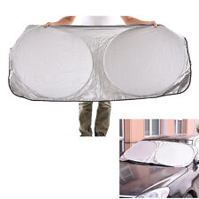 For Car Front/Rear Windshield Retractable Cover Curtain Sunshade Shield Visor FG