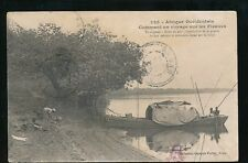 West Africa Senegal Afrique Occidentale Barge on the river used 1923 PPC