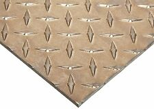 "6061 Aluminum T6 Temper Square Sheet Diamond Tread - 0.188"" Thick - 24"" x 24"""