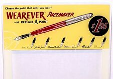 1940s WEAREVER PACEMAKER Fountain Pen Glass for Store Display Replace Point 1.95