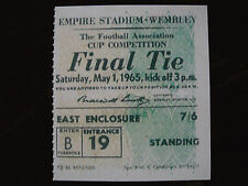 1965 F.A. Cup Final Ticket Leeds United v Liverpool mint condition.