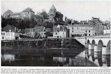 36 LE BLANC VUE GENERALE PONT IMAGE 1924 OLD PRINT