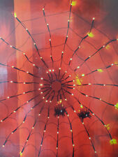 2.6Ft/80cm Halloween Party/Prop Cobweb/Spiders/100 LEDs/Wall/Ceiling/