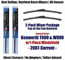 Wipers 2pk Premium fit 2007-2015 Kenworth T800 W900 w/1-Piece Glass 16180x2