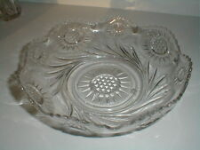 EAPG US Glass SOLAR & FEATHERED SWIRL Serving Bowl 1908