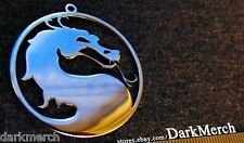 Mortal Kombat Surgical Steel Pendant Necklace Logo Fatality Videogame Geekery