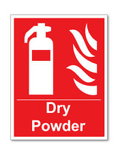 2 x DRY POWDER EXTINGUISHER POINT SELF ADHESIVE VINYL STICKERS SAFETY BUSINESS