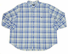 [39 95] RALPH LAUREN MENS BLUE WHITE PLAID CLASSIC FIT SHIRT BIG & TALL 4XLT