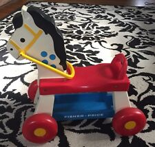 Vintage 1976 FISHER PRICE Whinny Ride On Toy Horse Pony Working Sound #978
