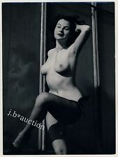 NUDE DANCER FISHNET TIGHTS / NACKTE TÄNZERIN * Vintage 60s Photo b SEUFERT
