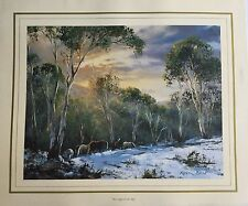New Kevin Best Artist Painting Print - First Light in the Alps