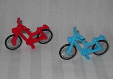 2 NEW LEGO BICYCLES,BICYCLE,1 RED & 1 AZURE FOR MINIFIGURES, FRIENDS, TOWN, CITY