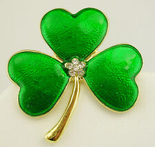 "Joan Rivers Shamrock Brooch  1 1/2""  w Packaging"