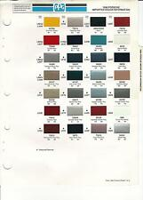 1988 PORSCHE IMPORTED CAR PAINT CHIPS PPG
