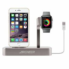 Archeer 2 in 1 Charge Dock MFI Apple Watch iPhone 7 6 Plus Power Station Holder