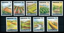 Rwanda 1983 MNH 9v, Agriculture, Canal, Fruits, Pineapple