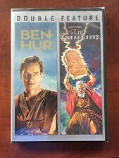 BEN HUR / THE TEN COMMANDMENTS -CHARLTON HESTON - 4 DVD WIDESCREEN SET Free Ship