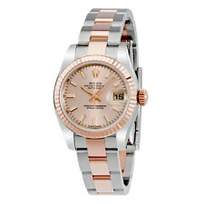 Rolex Datejust Automatic Stainless Steel w/ 18kt Rose Gold Ladies Watch179171PSO