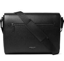 NWT $480 Michael Kors 'Harrison' Leather Messenger Bag - Black