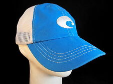COSTA Del MAR mesh back Baseball Cap Blue Trucker Hat CLEAN!