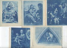 SET OF FIVE CYANOTYPES OF VARIOUS RELIGIOUS PAINTINGS