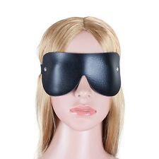 Sexy PU Leather eye mask Patch blinkers party eyeshade Blinder travel sleeping