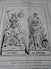 Caricature 1884 Projets de Statues pour le prochain salon Paix et Guerre