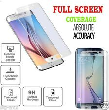 WHITE FULL CURVED 3D TEMPERED GLASS SCREEN PROTECTOR FOR SAMSUNG GALAXY S6 EDGE