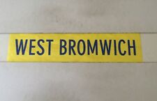 "West Mids Bus Blind 1986 26"" - West Bromwich"