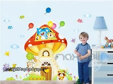 Animals Mushroom Tree house Wall decals Removable stickers kids nursery decor