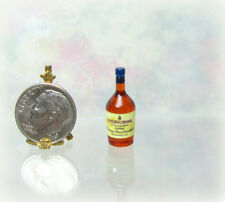 Dollhouse Miniature Plastic Cognac Bottle