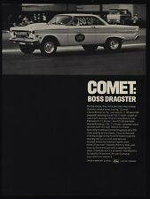1964 FORD COMET - Boss Dragster Race Car - Emporia VA - Long Beach - VINTAGE AD