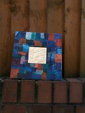 SPECCHIO COLORATO Mix Media. la vernice e tessuto.