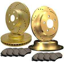 [FRONT & REAR] DRILLED ONLY PERFORMANCE BRAKE ROTORS & CERAMIC PADS ATL043949