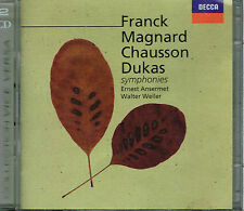 CD album: FRanck - Magnard - Chausson - Dukas: symphonies. decca 2CDs. C