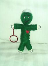 Poppet Wealth Prosperity Money spell guide herb infused key chain voodoo doll