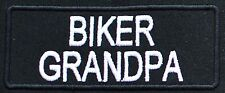 BIKER GRANDPA EMBROIDERED IRON ON PATCH Aufnäher Parche brodé patche toppa