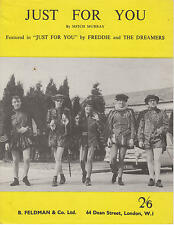 Just For You - Freddie and The Dreamers - 1964 Sheet Music
