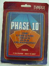 1992 PHASE 10 RUMMY TYPE GAME WITH A TWIST MINT ON CARD FUNDEX GAMES