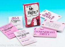 Is he Mr Right Card Quiz Game Fun Party Hen Night Maid of Honour Bride Groom