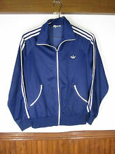 vtg Men's adidas Retro Blue Stripe German Heidelberg Track Athletic Jacket sz S