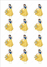 Novelty Snow White Edible Cake Cupcake Toppers Decorations Birthday Kids Girls
