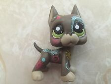 Littlest Pet Shop RARE Great Dane Dog Puppy #1439 Postcard Tattoo LPS