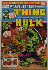 Marvel Feature #11 (Sep 1973, Marvel), VG, Thing vs. Hulk, 1st Thing solo book