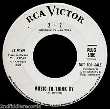 2 + 2-Music To Think By & Caesars Palace-Mod Soul Funk Promo 45-RCA VICTOR #9169