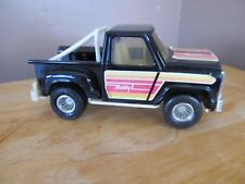 Vintage Buddy L Black Die Cast Pick Up Truck~Stickers Intact~Nice Shape!