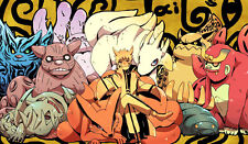 415 Naruto & 9 Bijuus PLAYMAT CUSTOM PLAY MAT ANIME PLAYMAT FREE SHIPPING