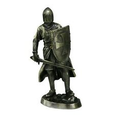 "Templar Knight Sword and Shield Handpainted Sculpture Decoration Figure 7"" Tall"