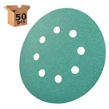 """HQRP 5"""" 8-Hole 100-Grit Sanding Discs for Dewalt D26451 D26453 DW423 50-Pack"""