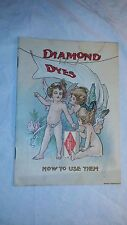 ANTIQUE DIAMOND DYES LITHOGRAPH ADVERTISING BOOKLET AMERICAN LITHOGRAPHIC CO NY